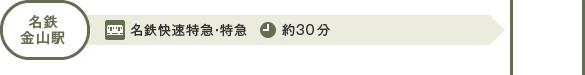 名鉄金山駅からのアクセス:名鉄金山駅から快速特急・特急で犬山駅まで約30分
